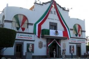 Loreto Capital of West Coast decorated for Dia de la Independencia