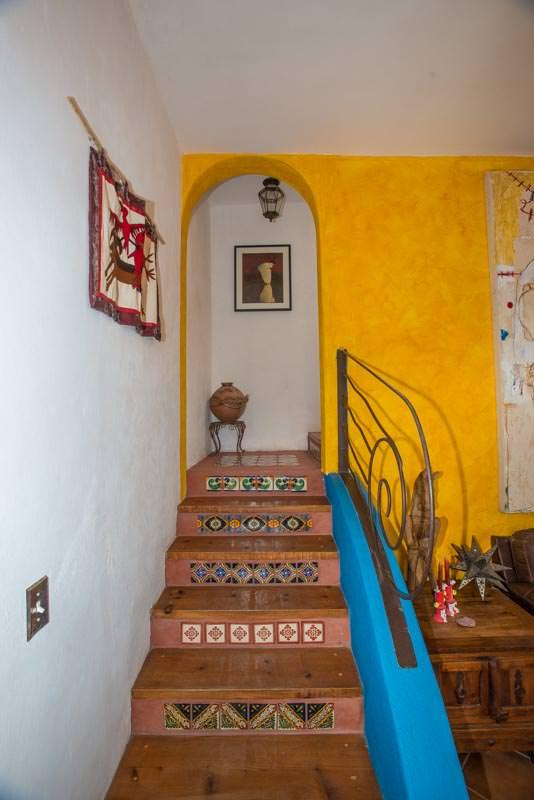 Casa Sueno de Colores staircase to upstairs