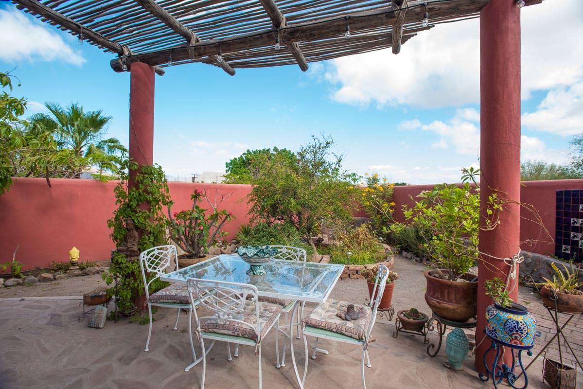 Casa Sueño de Colores terrace off of kitchen