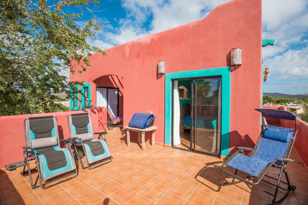 Casa Sueño de Colores upstairs terrace