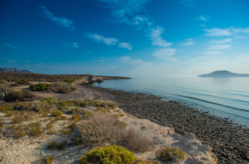 Beachfront Land North of Loreto with amazing Coronado Island Views! El Bajo Beachfront land views of Coronado Island