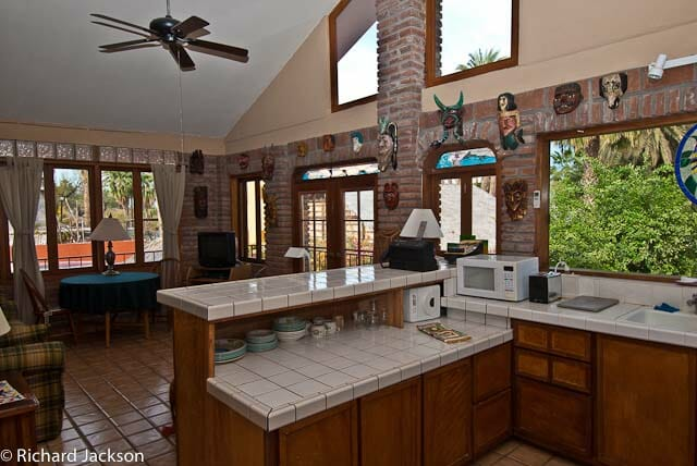 Hacienda Style Mexican Home apartment kitchen