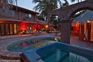 Hacienda Style Mexican Home aquaduct