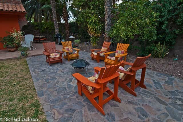 Hacienda Style Mexican Home in Loreto firepit