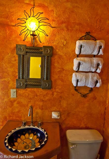 Hacienda Style Mexican Home in Loreto guest bath 1