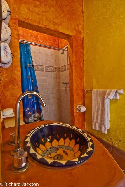 Hacienda Style Mexican Home in Loreto guest bath 2