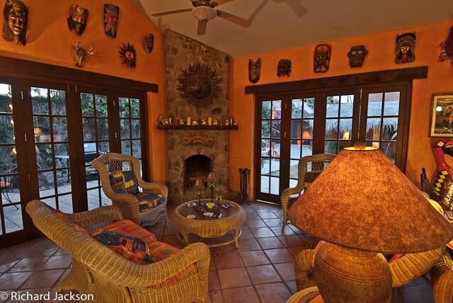 Hacienda Style Mexican Home in Loreto livingroom