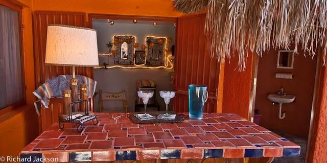 Hacienda Style Mexican Home in Loreto pool bar 2