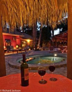 Hacienda Style Mexican Home in Loreto pool bar wine