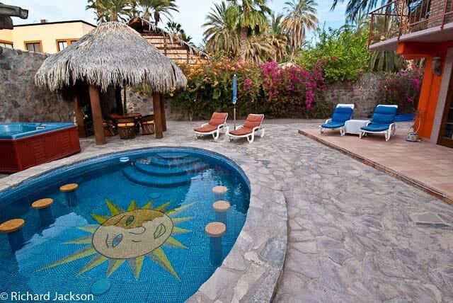 Hacienda Style Mexican Home in Loreto, pool close-up