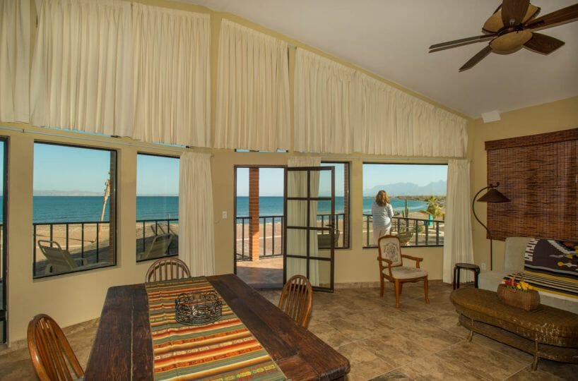 Beachfront House in Loreto Baja great views from the upstairs rental unit