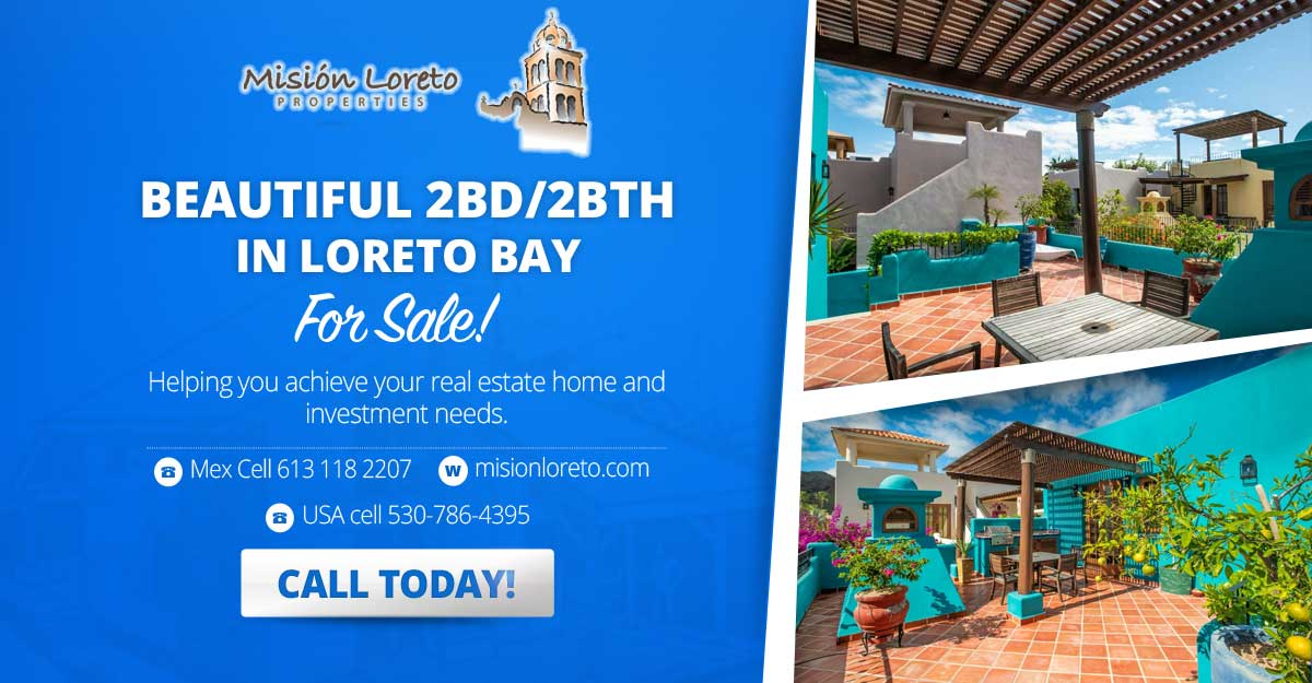 Beautiful Two Bed Two Bath Home for Sale in Loreto Bay. Casa Chica Model, FN551 great location!