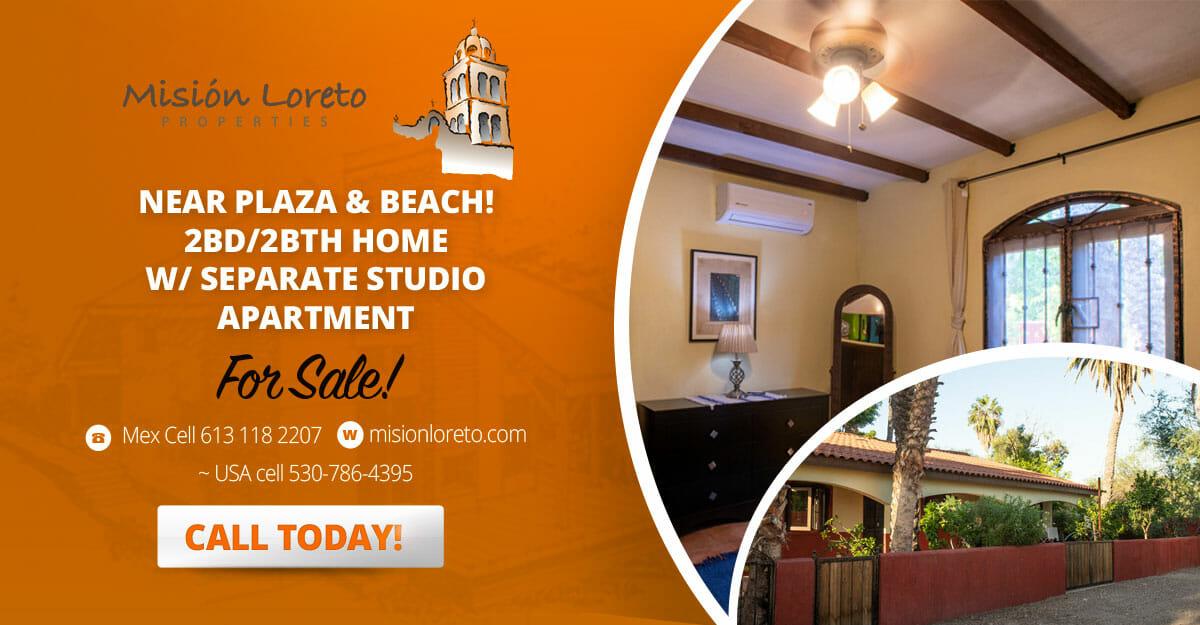 NEAR PLAZA & BEACH! 2BD/2BTH homew/ separate studio apartment