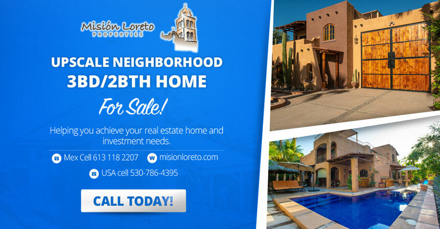 Loreto 3bd-2bth upscale-neighborhood-Blue-Banner