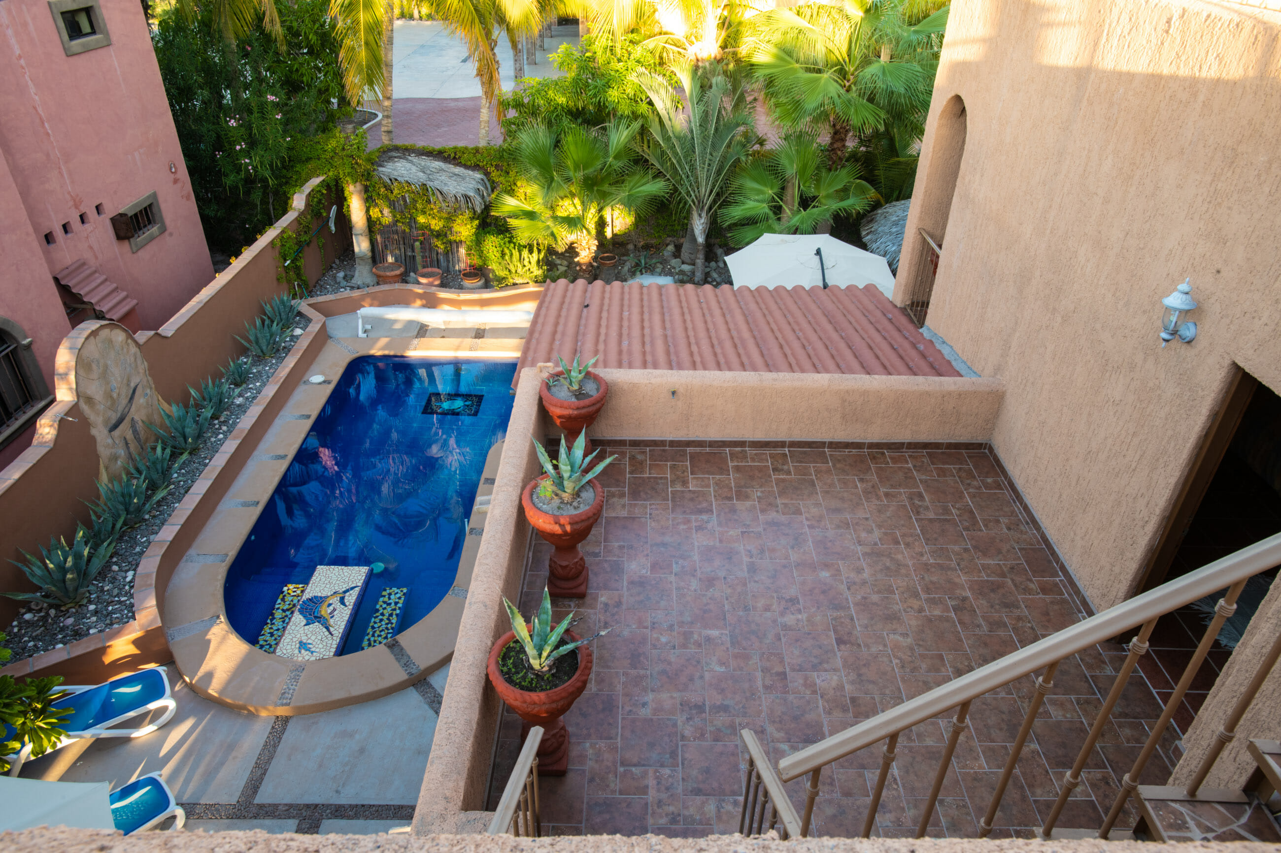 288 Davis St Loreto, Baja California Sur Mexico: Second floor terrace and back yard
