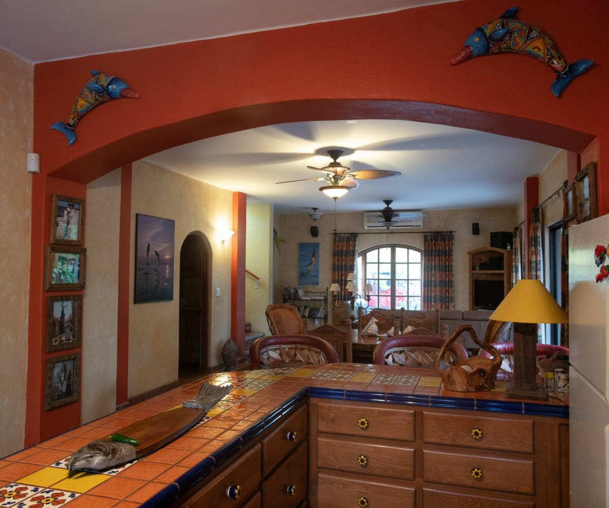 288 Davis St Loreto, Baja California Sur Mexico: Talavera Tile kitchen counter