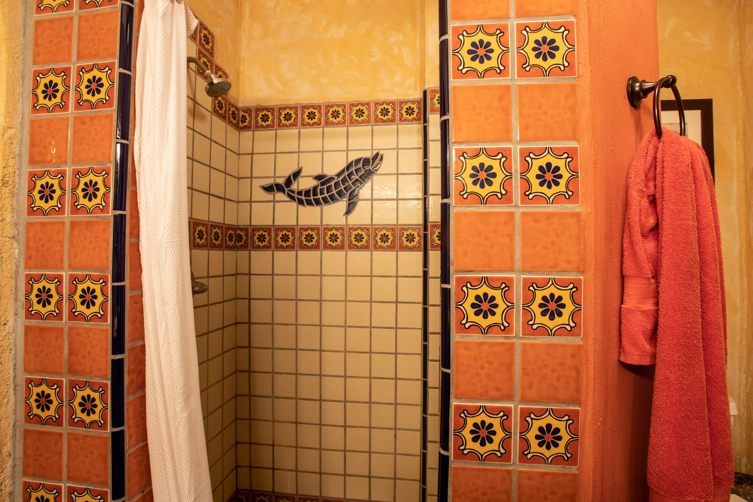 288 Davis St Loreto, Baja California Sur Mexico: Talavera tiled master shower