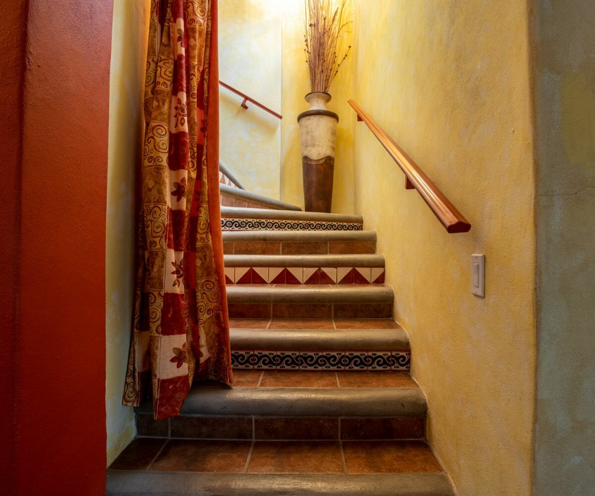 288 Davis St Loreto, Baja California Sur Mexico: staircase to second floor
