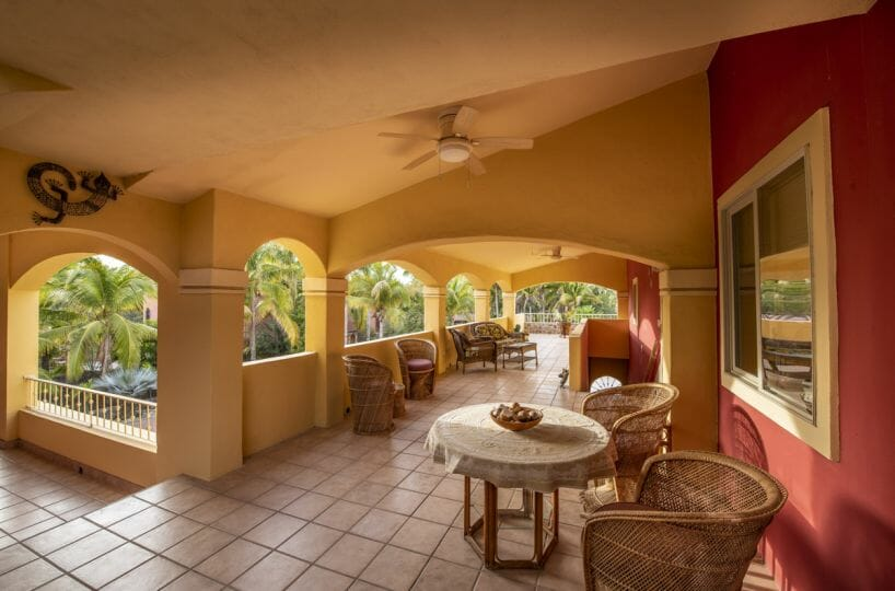Four bedroom home in Loreto on large lot with sea and mountain views!: Comfortable terrace.
