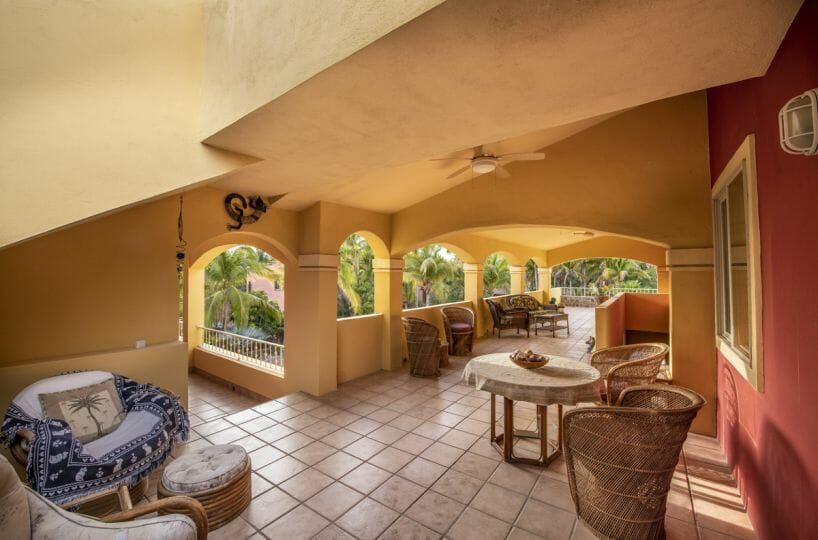 Four bedroom home in Loreto on large lot with sea and mountain views!: Covered terrace.