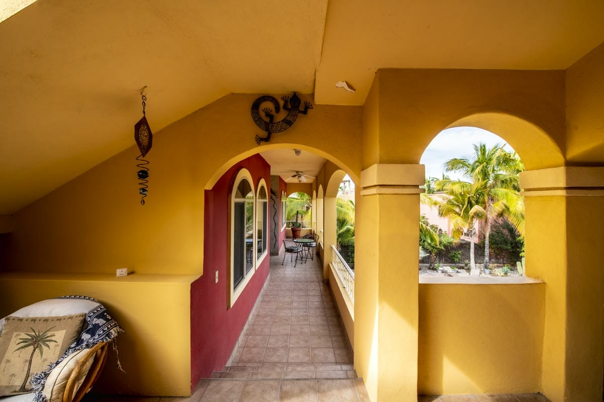 Four bedroom home in Loreto on large lot with sea and mountain views!: Gazing at Guest wing