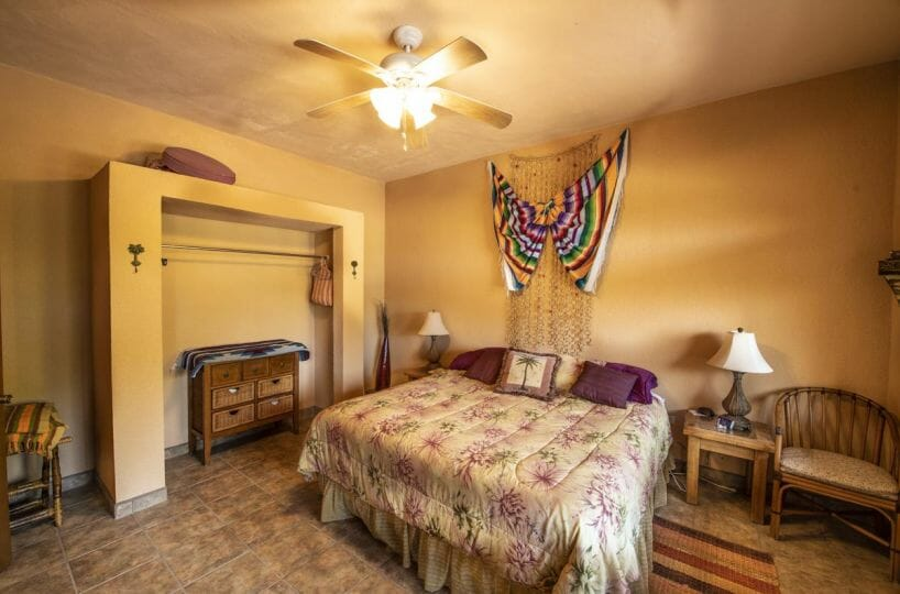 Four bedroom home in Loreto on large lot with sea and mountain views: Guest bedroom.
