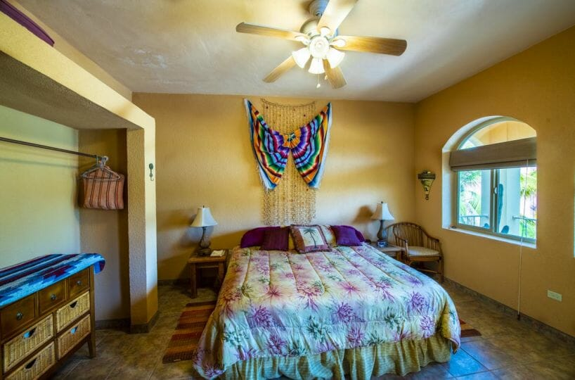 Four bedroom home in Loreto on large lot with sea and mountain views: Guest bedroom West.