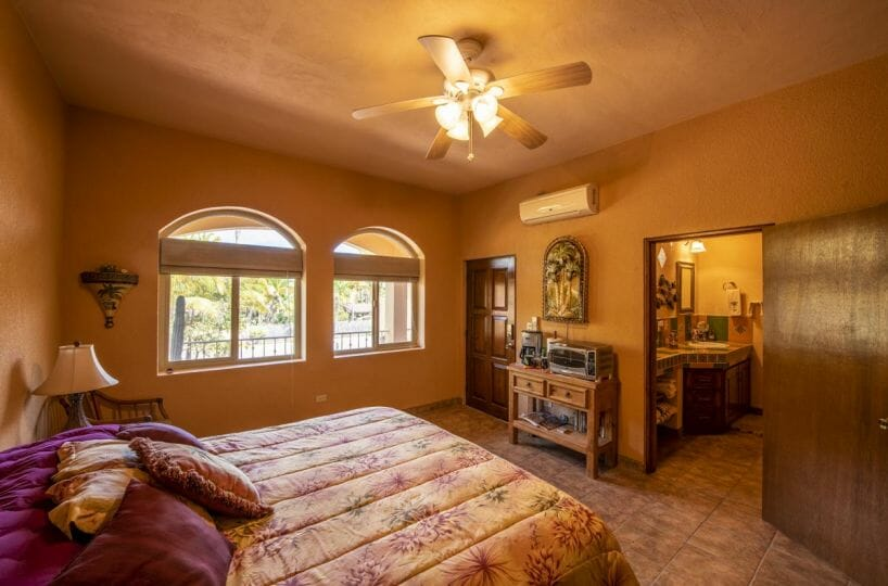Four bedroom home in Loreto on large lot with sea and mountain views: Guest bedroom West A