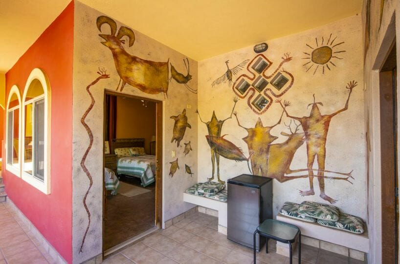 Four bedroom home in Loreto on large lot with sea and mountain views: Guest wing