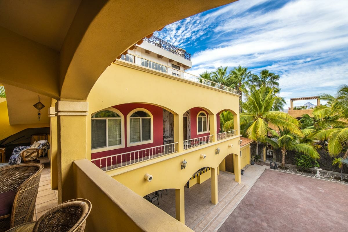 Four bedroom home in Loreto on large lot with sea and mountain views!: Looking at Guest wing