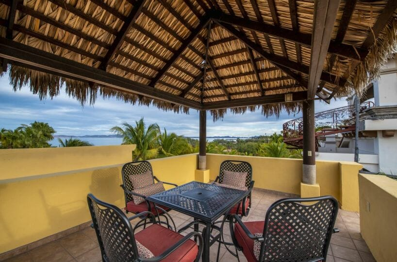 Four bedroom home in Loreto on large lot with sea and mountain views: views from third floor terrace