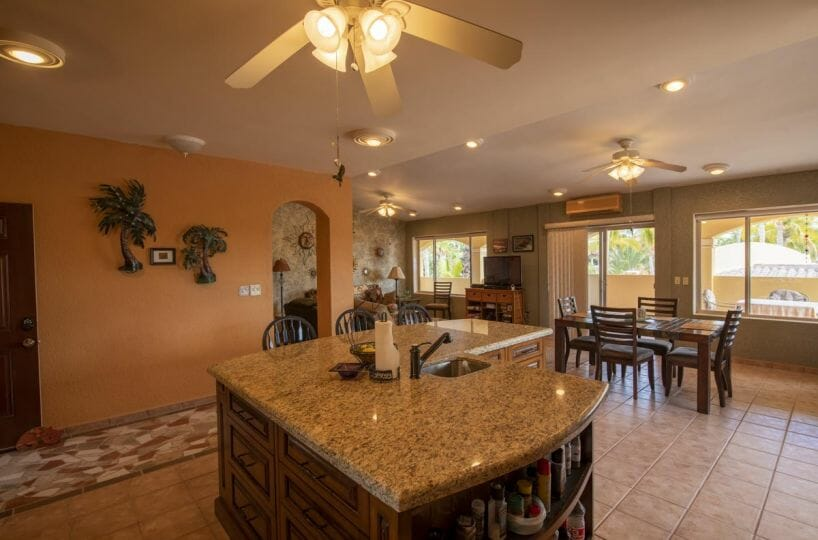 Four bedroom home in Loreto on large lot with sea and mountain views: gourmet kitchen