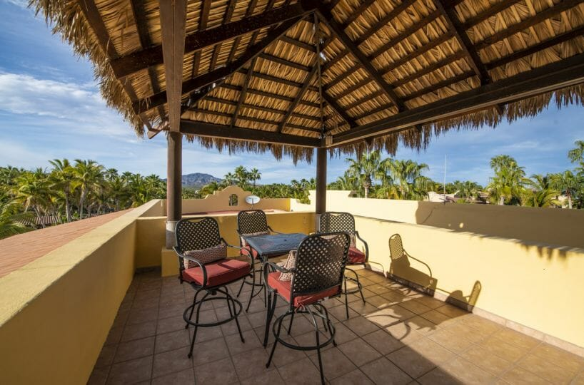 Four bedroom home in Loreto on large lot with sea and mountain views: views from third floor terrace.