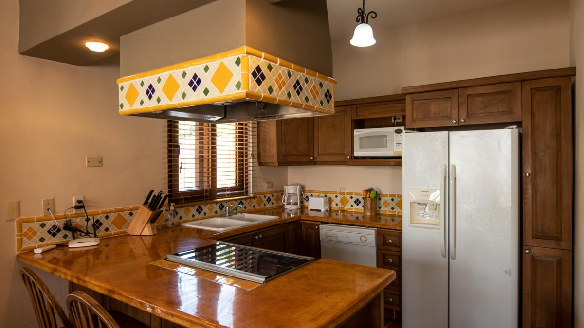 Casa Uno kitchen. 2 Bd 2 Bth Hm in private neighborhood, Loreto.