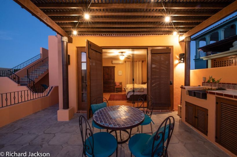 Loreto Bay Home with views and private pool: 2nd floor bedroom and patio