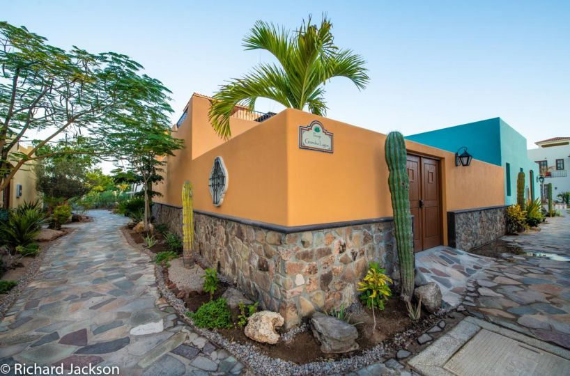 Loreto Bay Home with views and private pool:Back entrance AV204