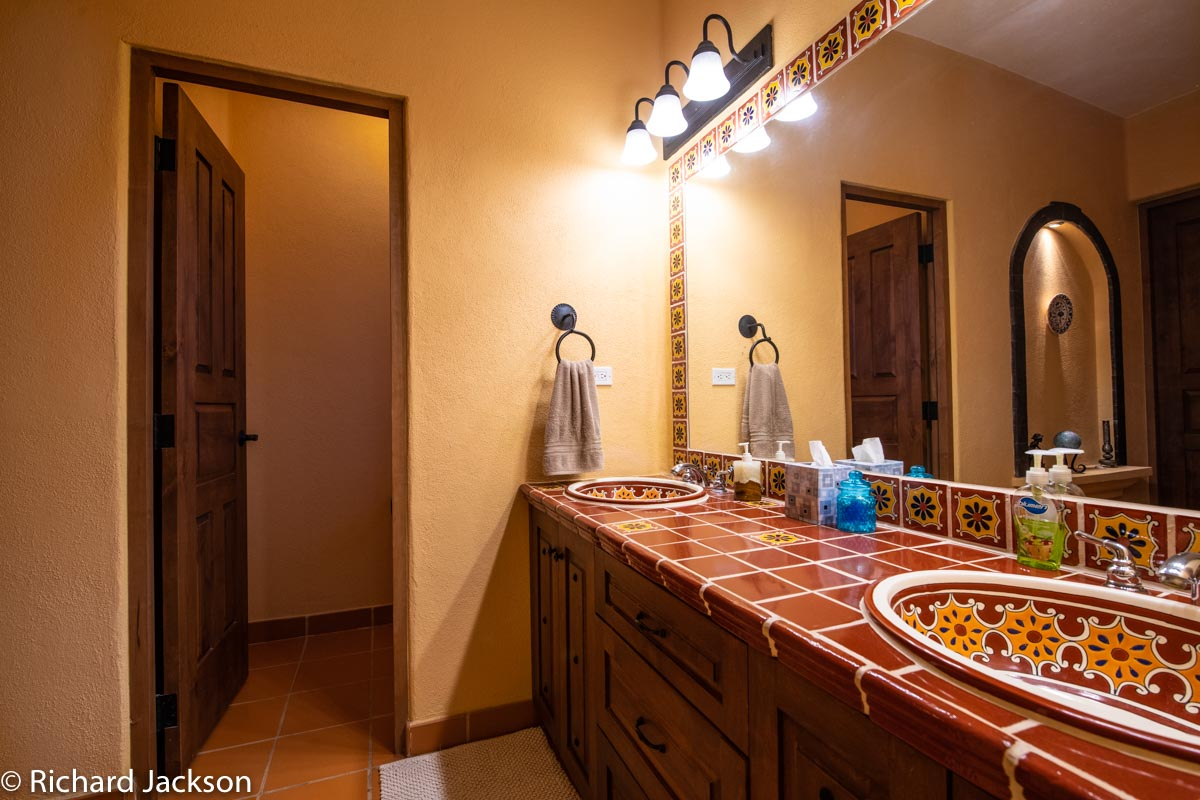 Loreto Bay Home with views and private pool: Double Sinks Mexican tiled