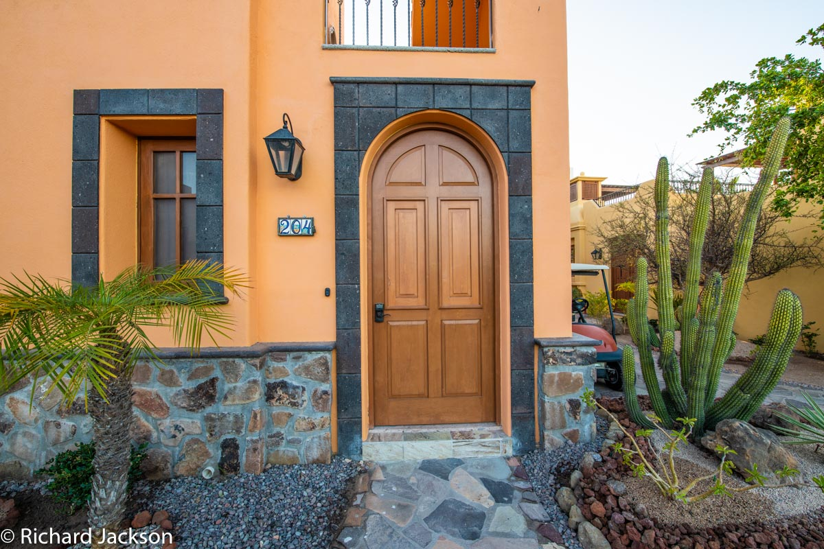 Loreto Bay Home with views and private pool: Front door AV204