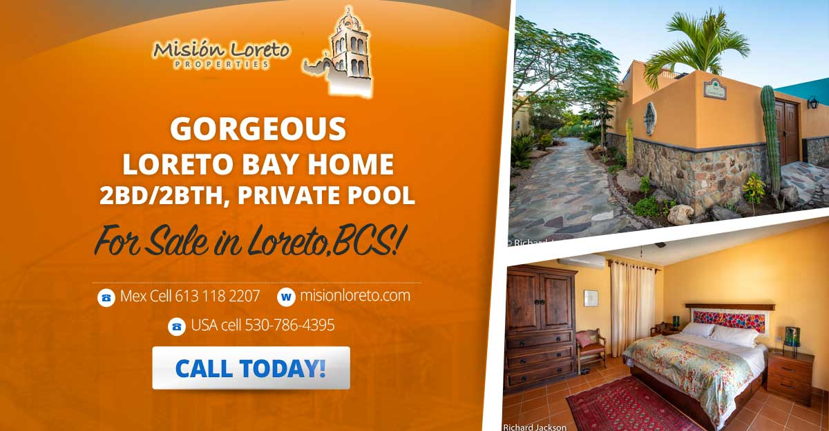 Gorgeous Loreto Bay Home Banner Ad 1200x625