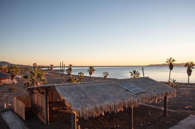New Beachfront Home in Mil Palmas, Loreto Baja Sur: North view