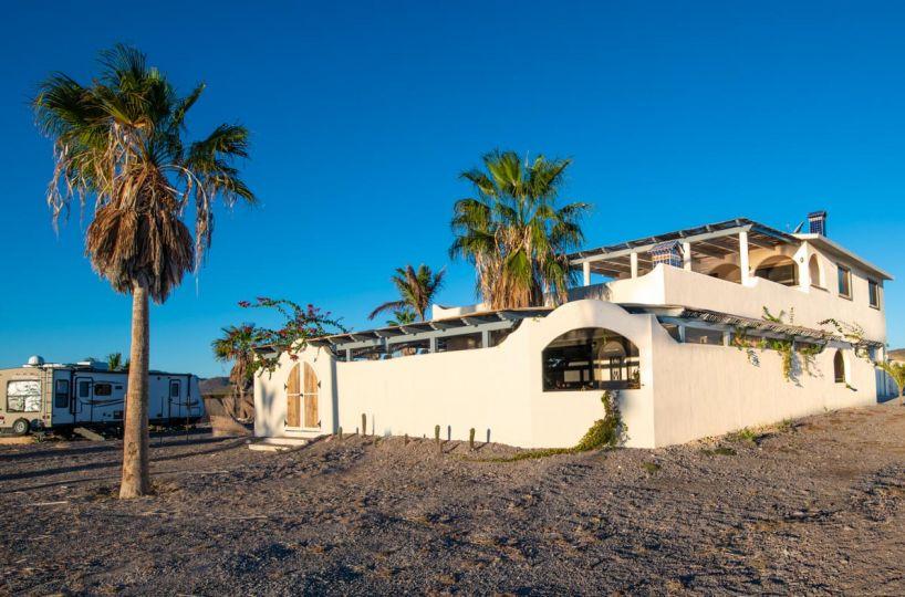 New Beachfront Home in Mil Palmas, Loreto Baja sur: Side of house