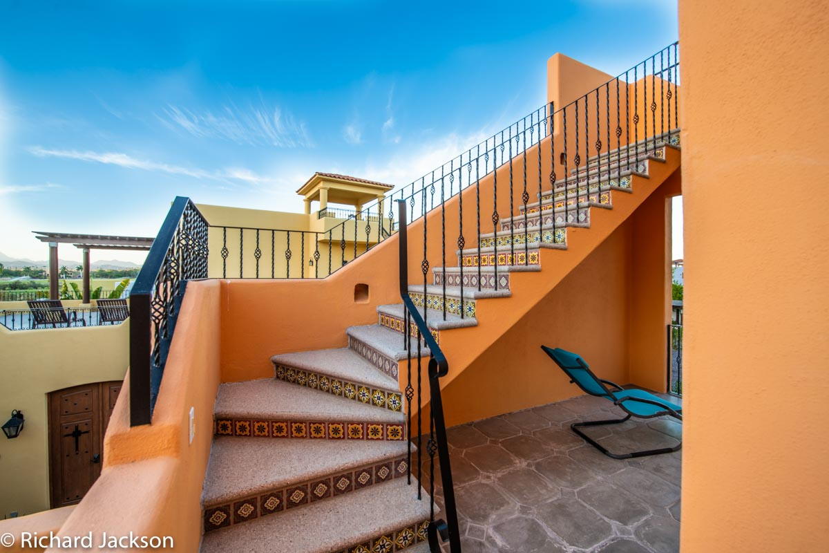 Loreto Bay Home with views and private pool: stairs to third floor terrace