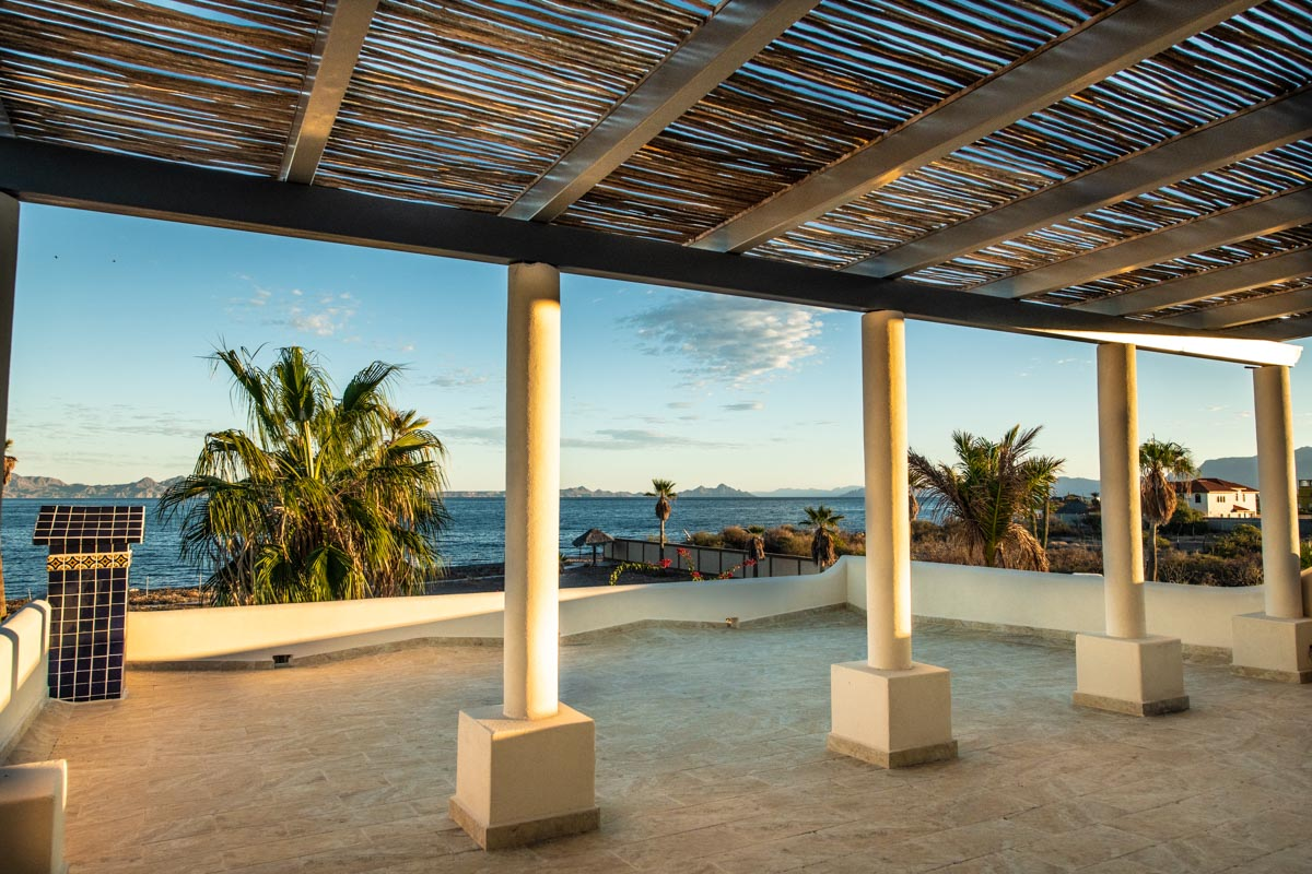 New Beachfront Home in Mil Palmas, Loreto Baja Sur: beach house sea view