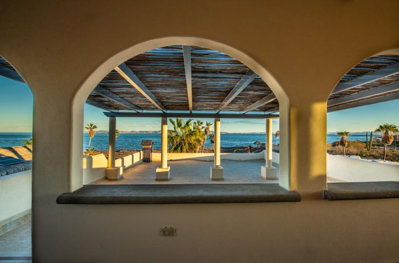 New Beachfront Home in Mil Palmas, Loreto Baja Sur: house view