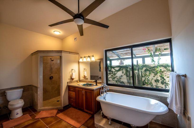 New Beachfront Home in Mil Palmas, Loreto Baja Sur: downstairs bath