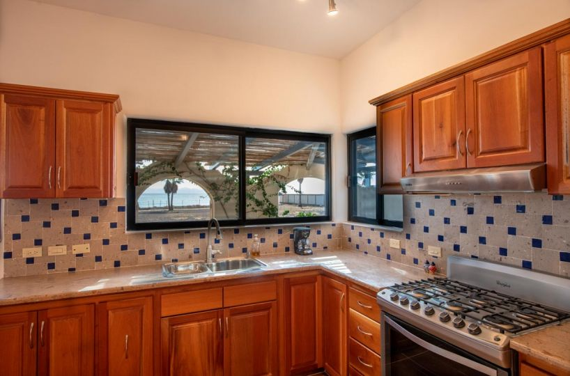 New Beachfront Home in Mil Palmas, Loreto Baja Sur: downstairs kitchen