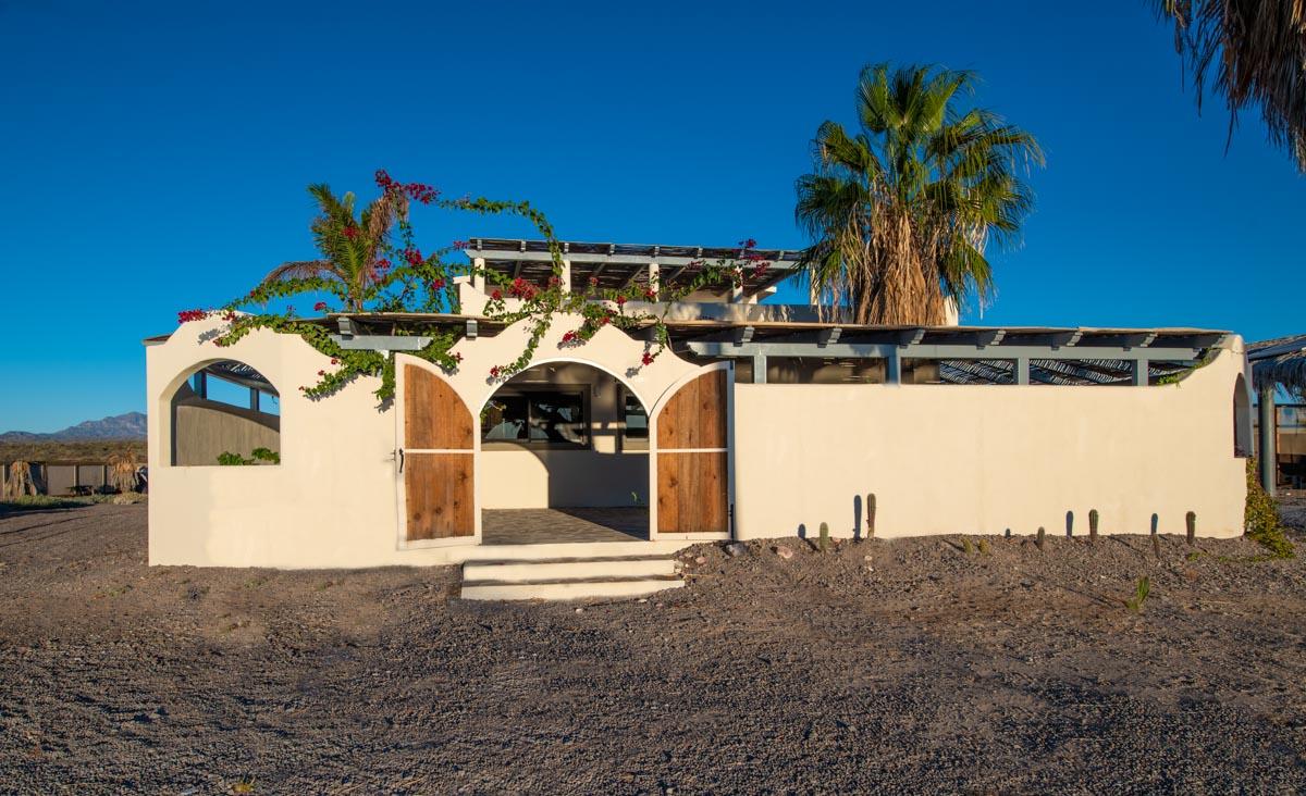 New Beachfront Home in Mil Palmas, Loreto Baja Sur: front of house