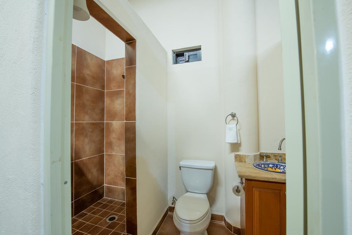 New Beachfront Home in Mil Palmas, Loreto Baja Sur: full bath in garage