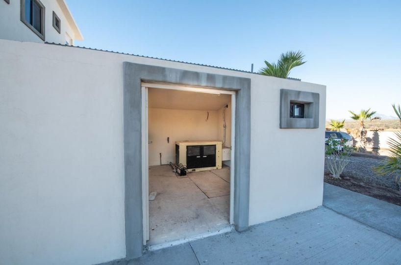 New Beachfront Home in Mil Palmas, Loreto Baja Sur: generator and water room