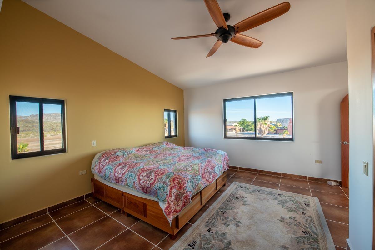 upstairs bedroomNew Beachfront Home in Mil Palmas, Loreto Baja Sur: